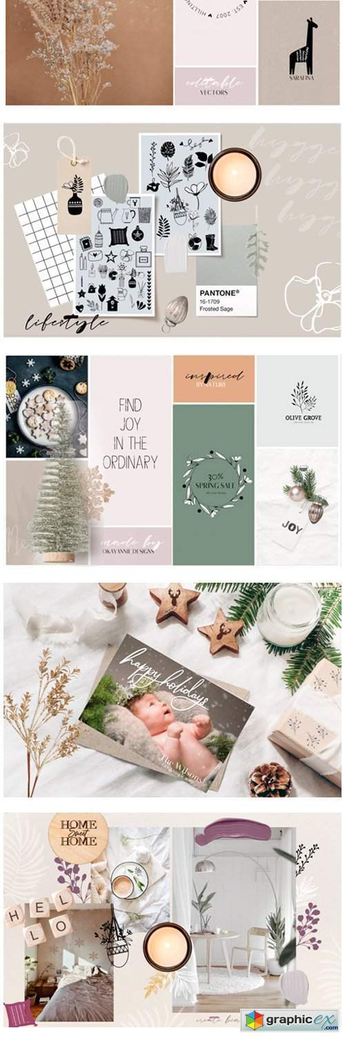 Hygge Home & Christmas Illustrations