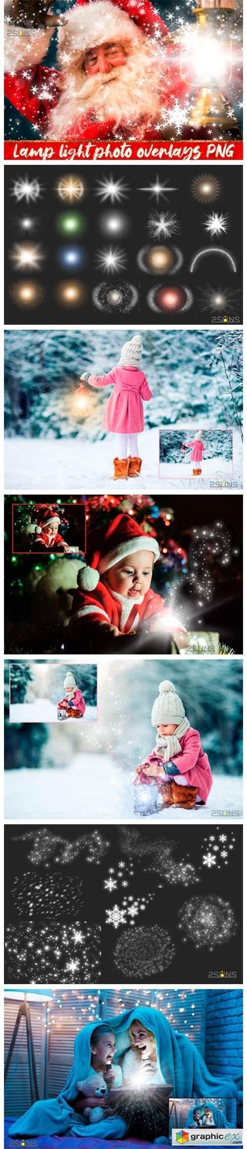 30 Christmas Photo Overlays Lamp Lights