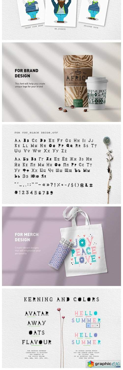 For You! Handmade Decorative Font