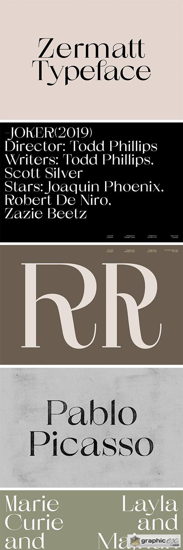 Zermatt Typeface