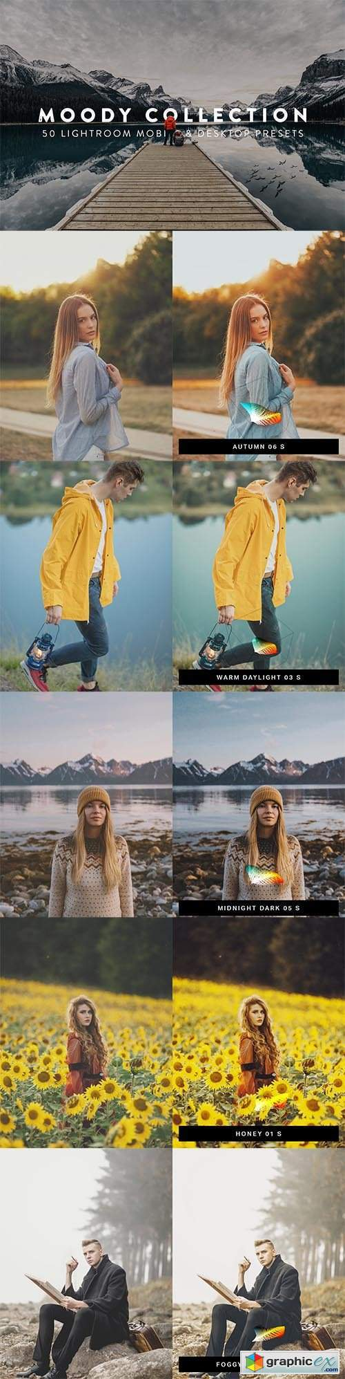 50 Moody Lightroom Presets and LUTs