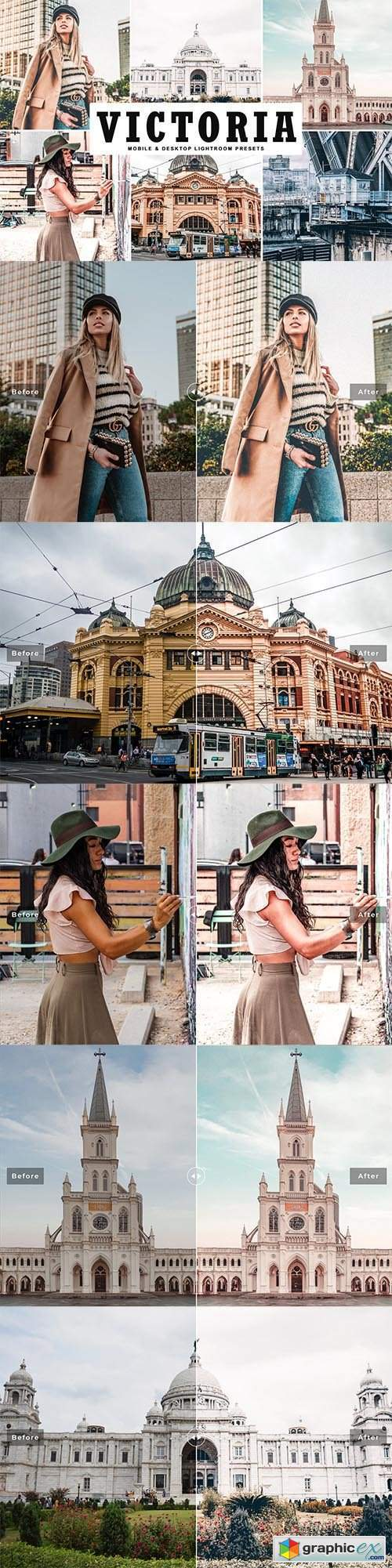 Victoria Mobile & Desktop Lightroom Presets
