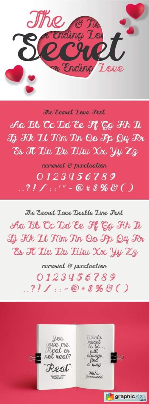 The Secret Love Font