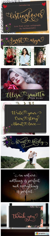 Listing Loves Font