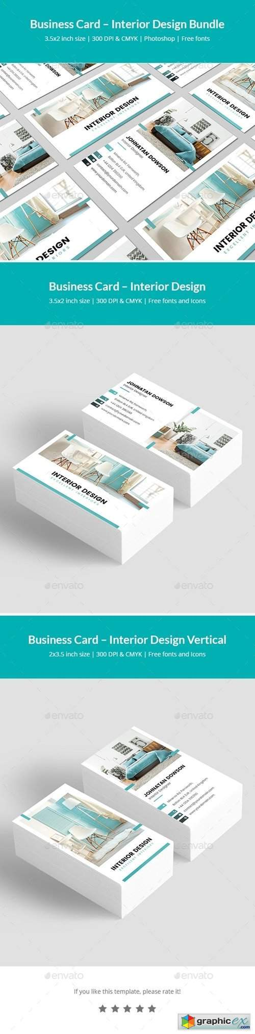 Business Card – Interior Design Bundle Print Templates 2 in 1