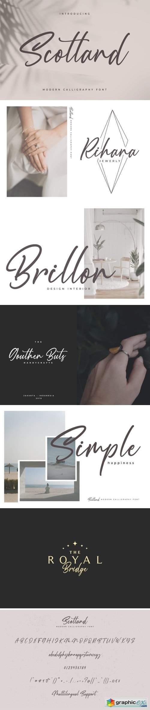 Scotland - Modern Calligraphy font