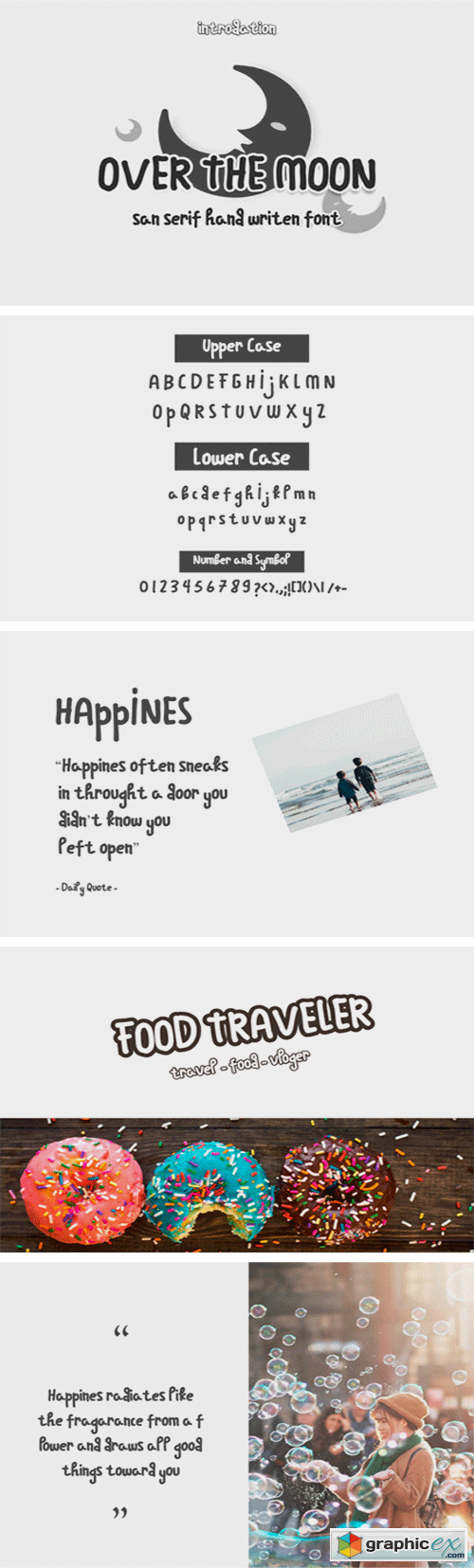 Over the Moon Font