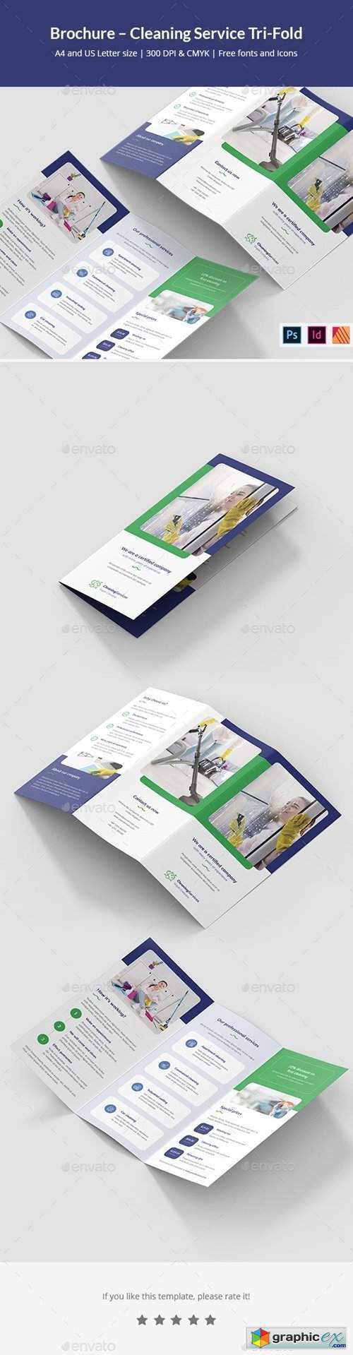 Brochure – Cleaning Service Tri-Fold
