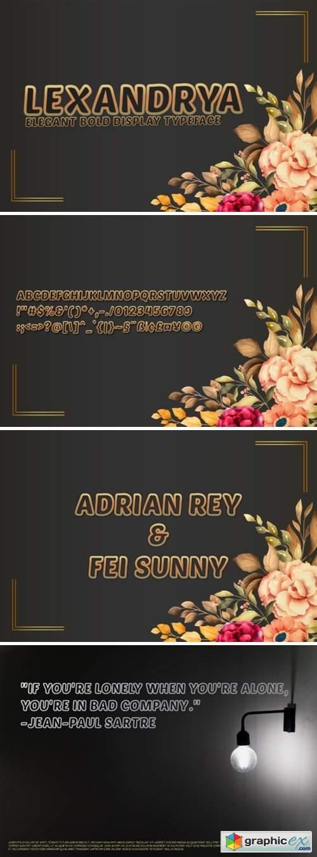 Lexandrya Outline Font