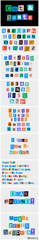Cut & Paste Font
