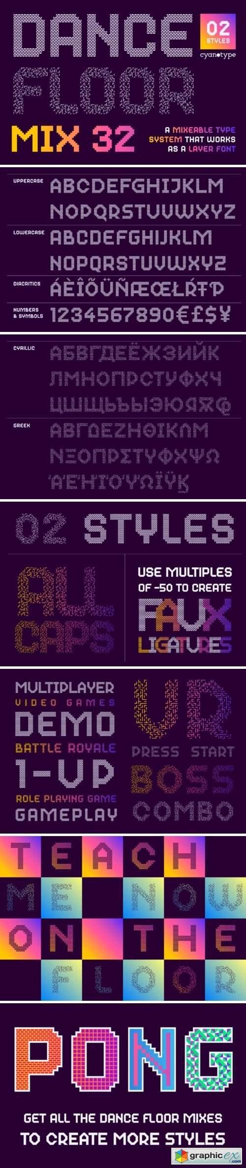 Dance Floor Mix 32 Font