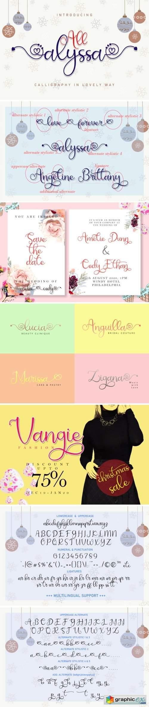 All Alyssa Font