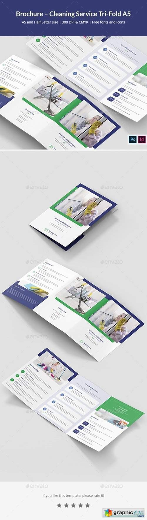 Brochure – Cleaning Service Tri-Fold A5