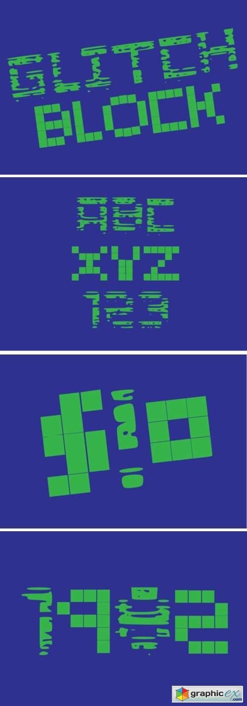 Glitch Blocks Font