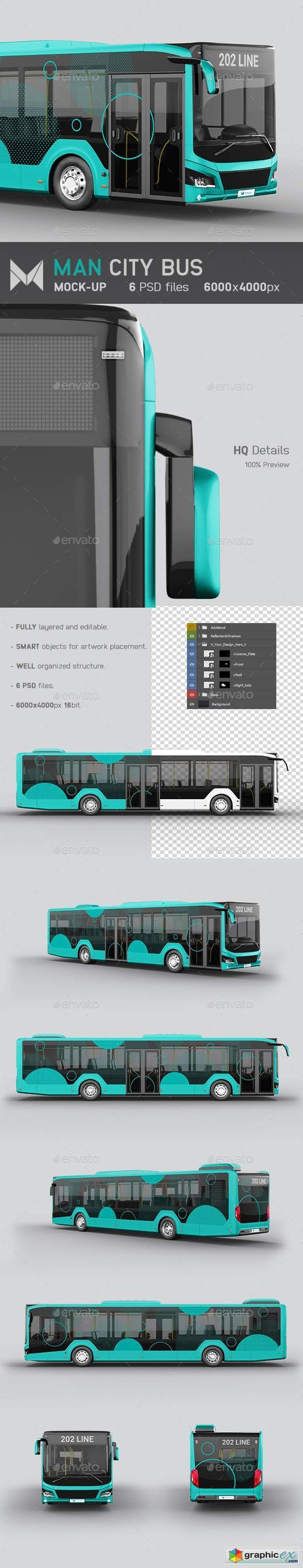 Man City Bus Mockup