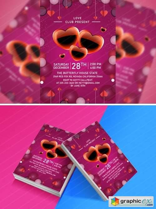 Valentine Day Flyer 2645345