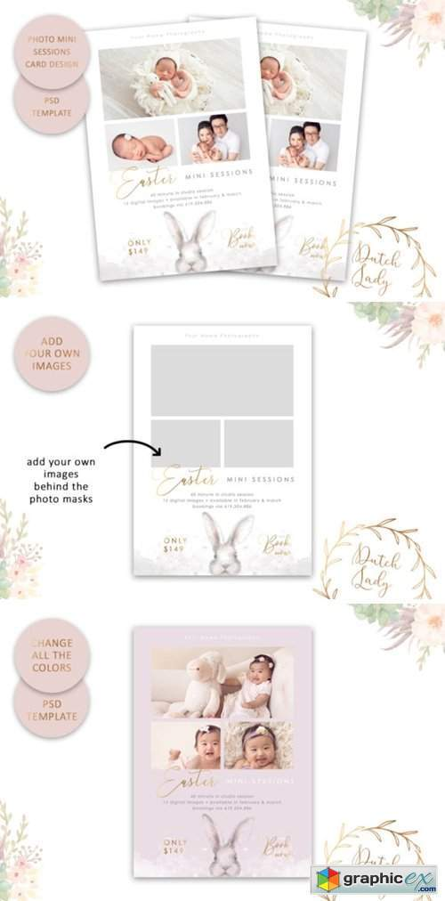 Photo Session Card Template #55