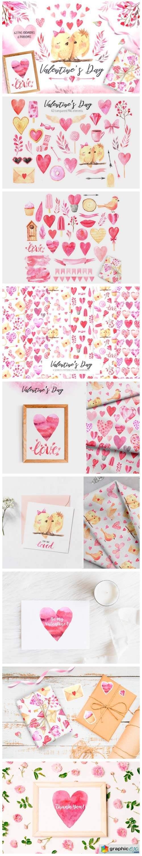 Watercolor Valentine's Day Set Vol.2