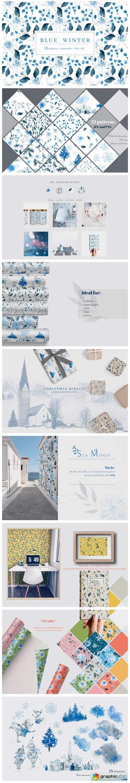 Blue Winter Patterns