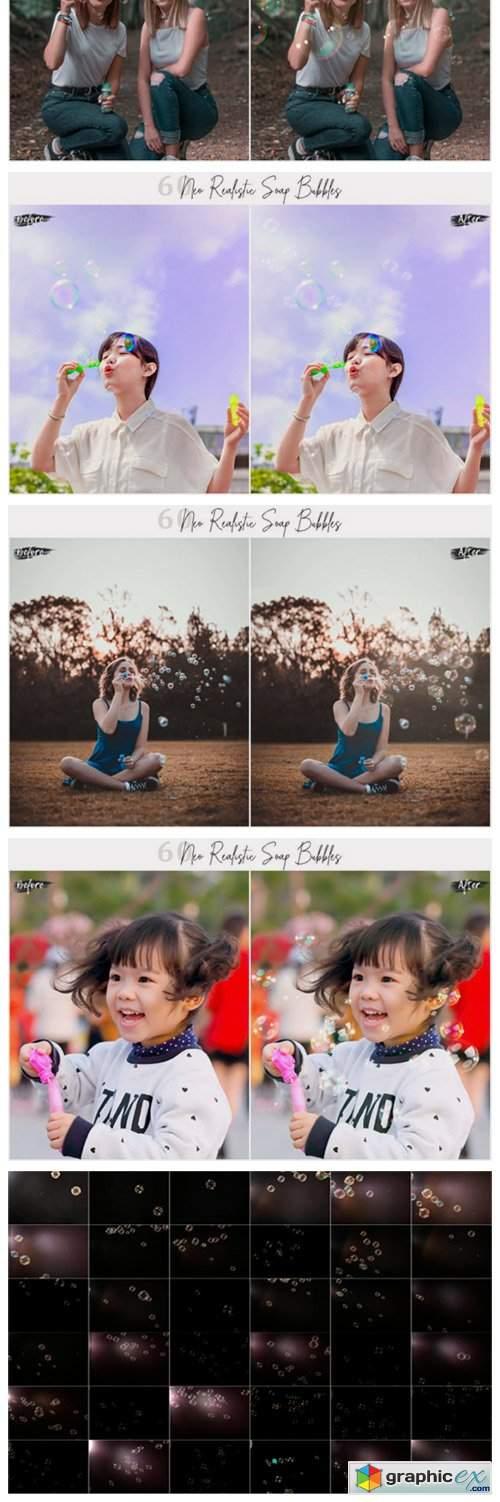 Neo Realistic Soap Bubbles Photo Overlay