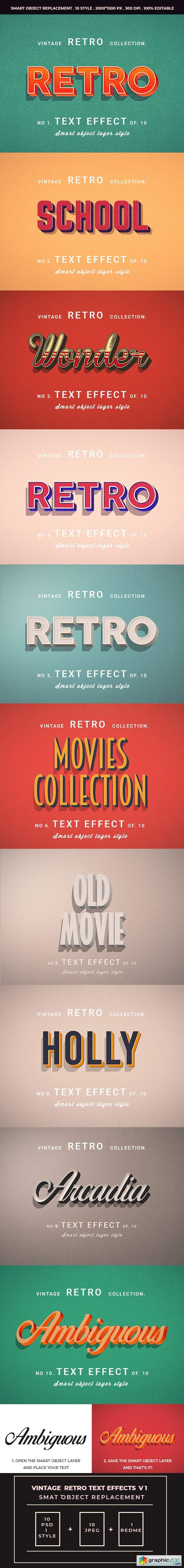 Retro Vintage Text Effects For Photoshop V1