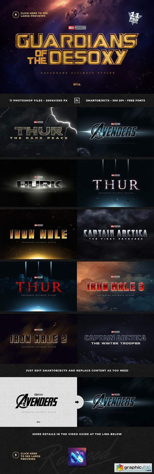 Superhero Ultimate Text Effects vol.1
