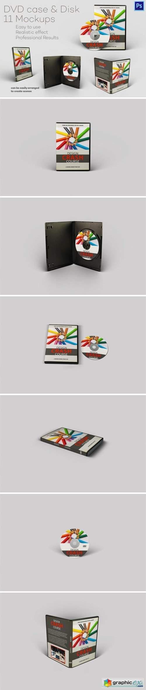Photorealistc DVD Case & Disk Mockups