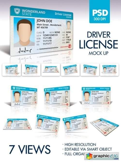 Driver License Mockup