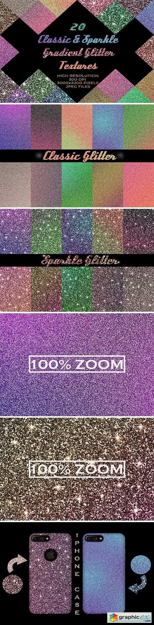 20 Classic&Sparkle Gradient Glitters