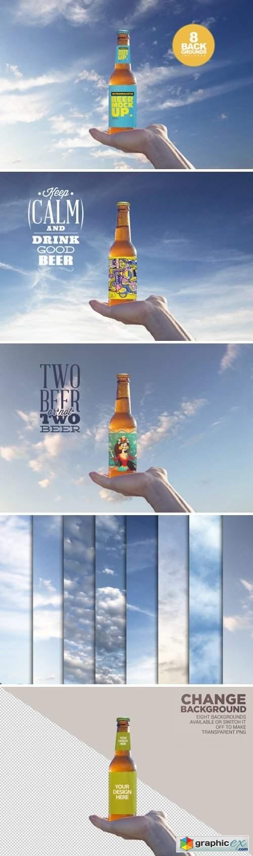 Beer in the Sky Mockup