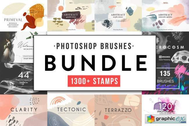All Photoshop Stamp Brushes Bundle