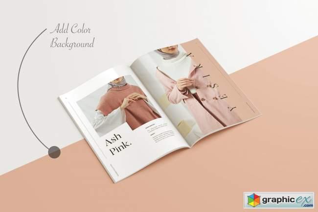 A4 A5 Magazine Brochure Mockup