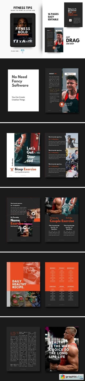 Fitness Bodybuilding Motivation Template