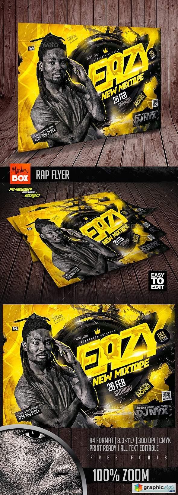 Rap Flyer 25602737