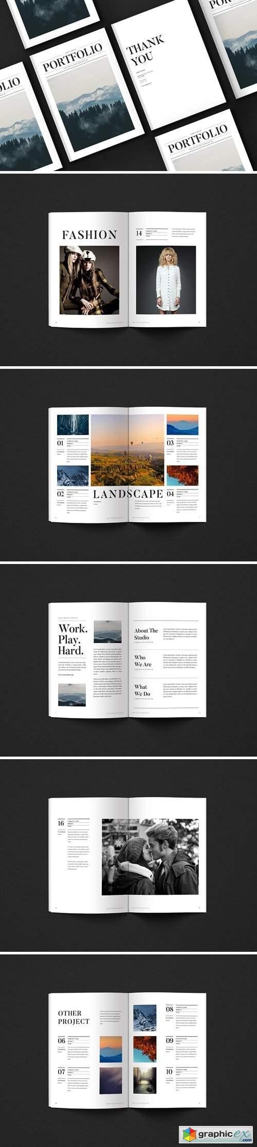 Newspaper Portfolio Brochure