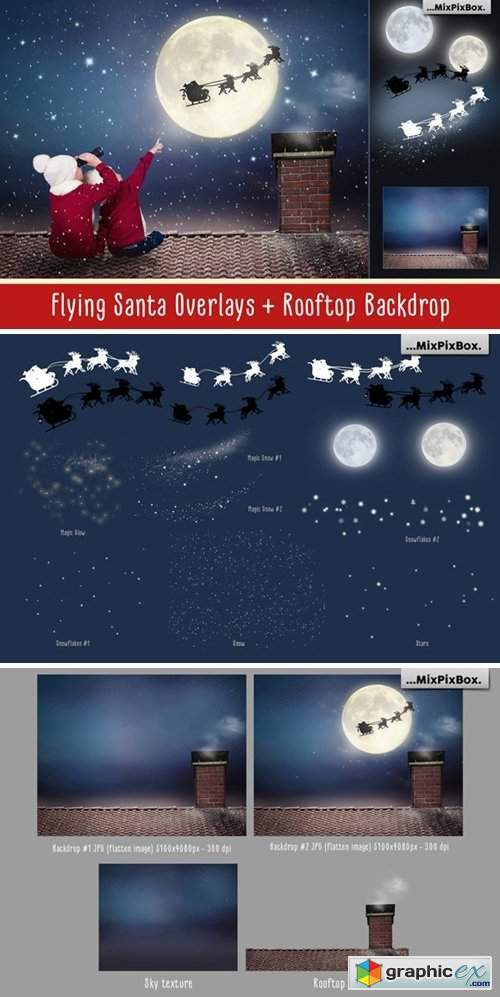 Flying Santa Overlays