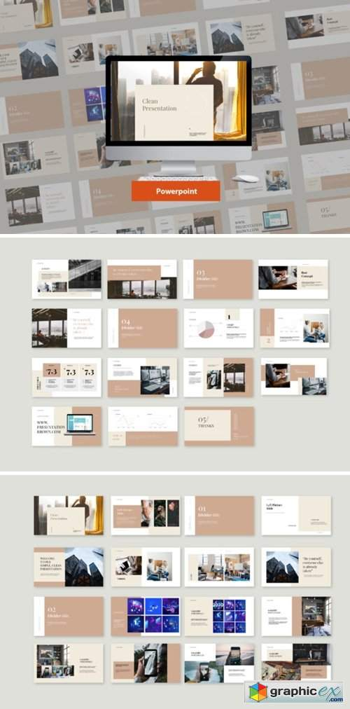 Clean Presentation Powerpoint