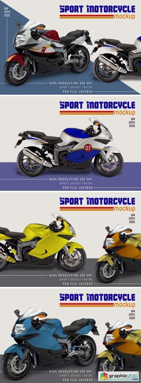 Sport Motorcycle Mock-up