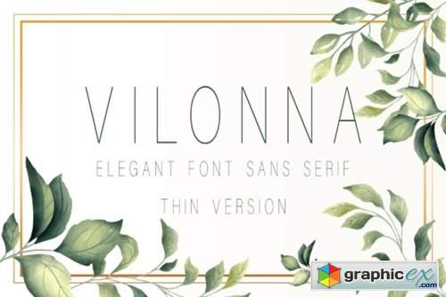 Vilonna ( Thin,Extra Light ) Font