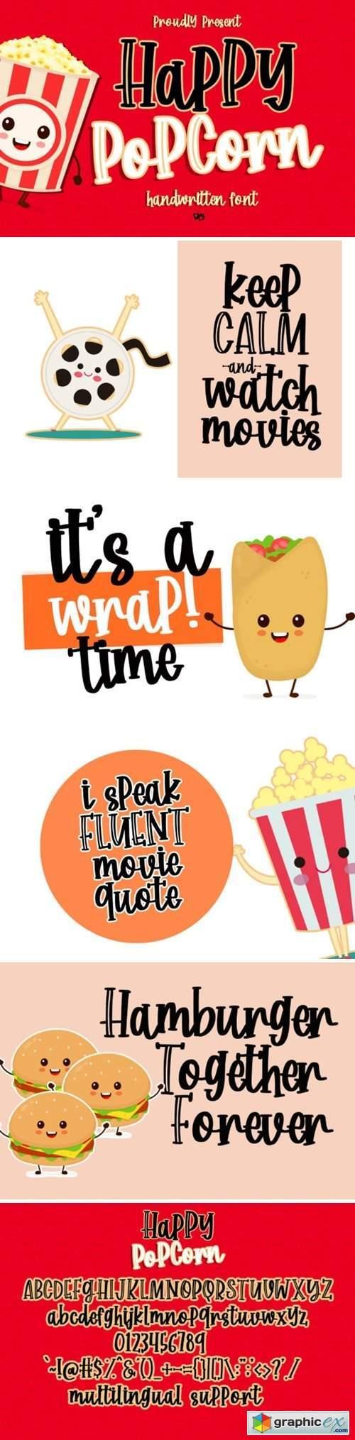 Happy Popcorn Font
