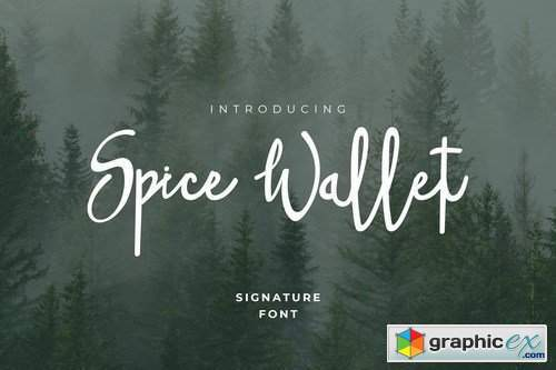Spice Wallet Font