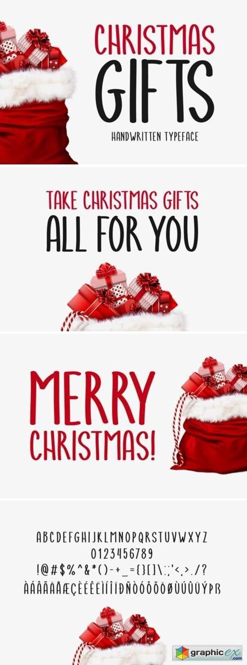 Christmas Gifts Font