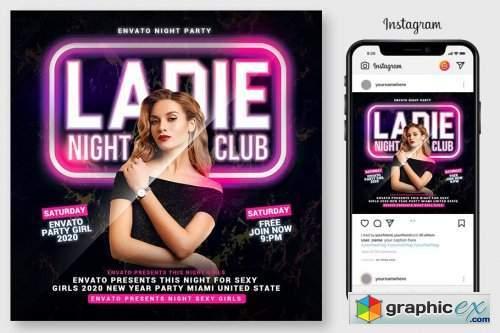 Ladies Night Club Flyer 4543726