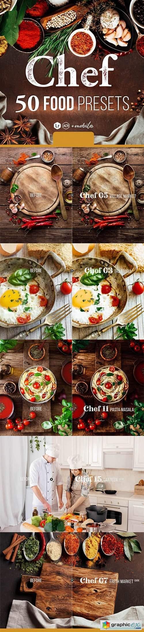 Chef - 50 Food Presets for Lightroom & Photoshop