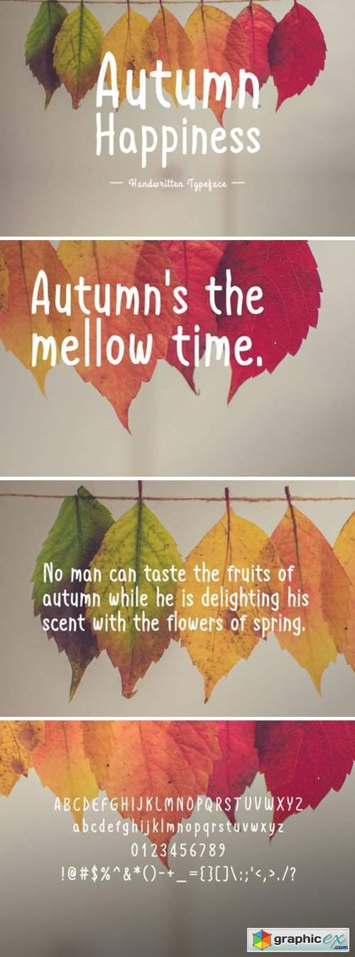 Autumn Happiness Font