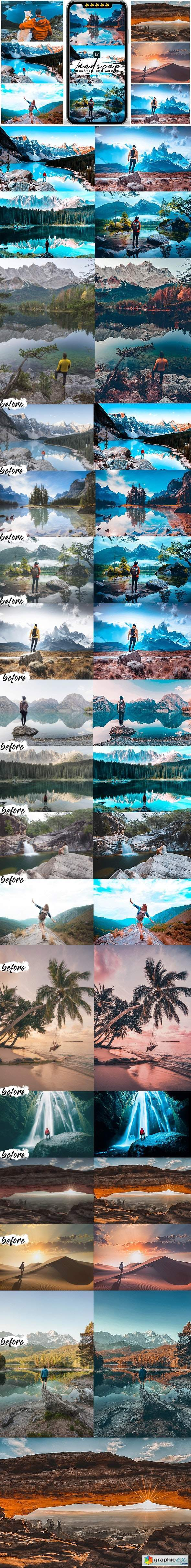 Landscape Presets Preset For Mobile and Desktop Lightroom