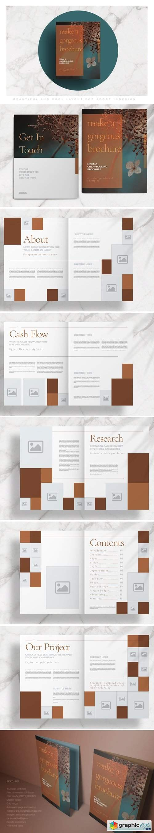 Brown Stylish Brochure