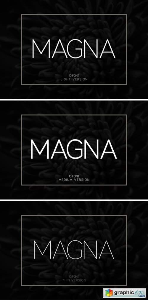 Magna (Thin,Light,Medium) Font