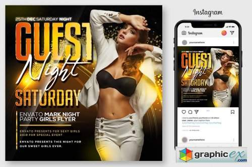 Guest Night Club Flyer