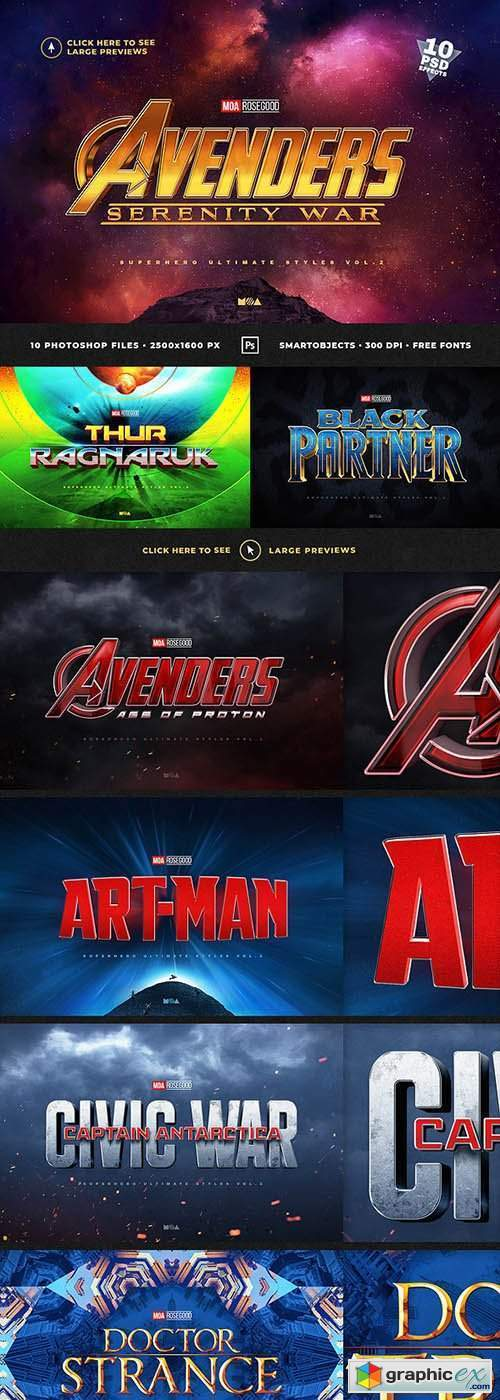 Superhero Ultimate Text Effects vol.2